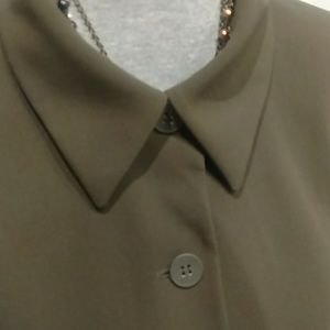 Jones New York Jackets & Coats - 18W Olive Green Straight Lined Blazer